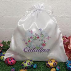 Personalised Easter Sack Hunt Bag 35cm  - Butterfly Bunnies