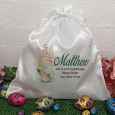 Personalised Easter Sack Hunt Bag 35cm  - Gnome