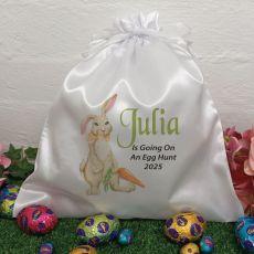 Personalised Easter Sack Hunt Bag 35cm  - Carrot Bunny