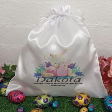 Personalised Easter Sack Hunt Bag 35cm  - Sleeping Bunny