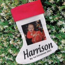 Personalised Christmas Photo Stocking