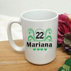 Birthday Personalised Coffee Mug - Swirl 15oz