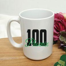 Personalised 100th Birthday Coffee Mug 15oz