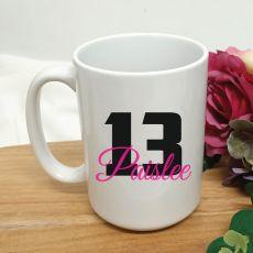 Personalised 13th Birthday Coffee Mug 15oz
