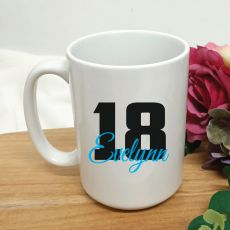 Personalised 18th Birthday Coffee Mug 15oz
