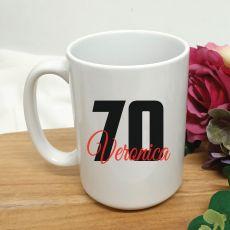 Personalised 70th Birthday Coffee Mug 15oz
