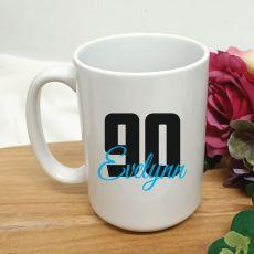 Personalised 90th Birthday Coffee Mug 15oz