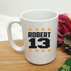 Personalised 13th Birthday Coffee Mug 15oz Star