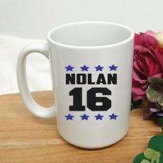 Personalised 16th Birthday Coffee Mug 15oz Star