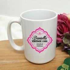 Limited Edition 40th Birthday Personalised Coffee Mug 15oz