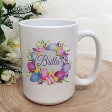 Personalised Easter Coffee Mug - Pink Eggs