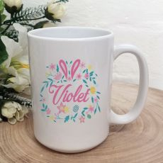Personalised Easter Coffee Mug - Floral Bunny