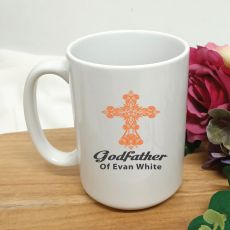 Godfather Coffee Mug Cross Design 15oz
