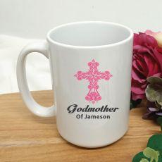 Godmother Coffee Mug Cross Design 15oz