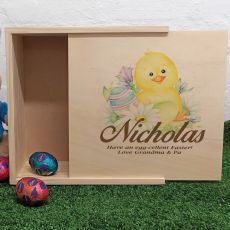 Personalised Wooden Easter Box - Chicken