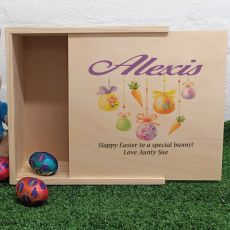 Personalised Wooden Easter Box - Hanging Eggs