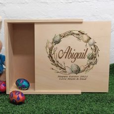 Personalised Wooden Easter Box - Neutral Egg