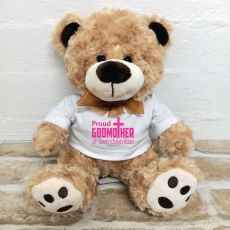 Godmother Personalised Bear Brown Plush - Malcolm