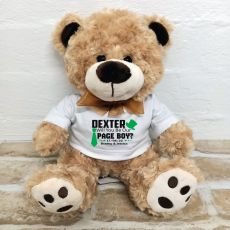 Personalised Page Boy Bear Brown Plush - Malcolm
