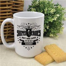 Dad SuperHero Cape Personalised Coffee Mug
