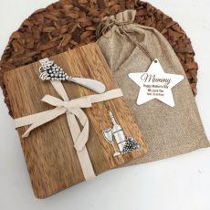 Mum Oval Bamboo Cheese Board -Grapes