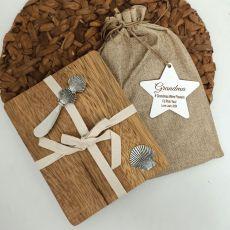 Grandma Oval Bamboo Cheese Board -Shell