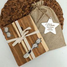 Mum Oval Bamboo Cheese Board -Turtle