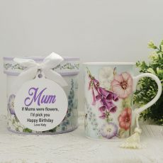 Mum Mug with Personalised Gift Box Hummingbird