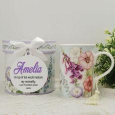 Hummingbird Mug with Personalised Gift Box