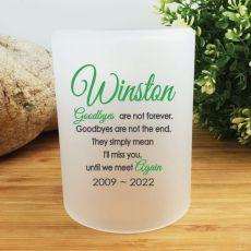 Pet Memorial Tea Light Candle Holder - Goodbyes