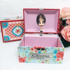 Personalised Rose Garden Music Jewelley Box