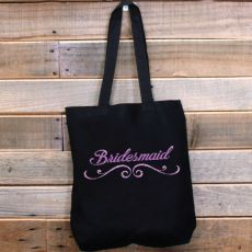 Bridesmaid Tote Bag Glitter Print