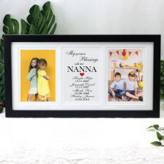 Nanna Gallery Photo Frame 4x6 Typography Print Black