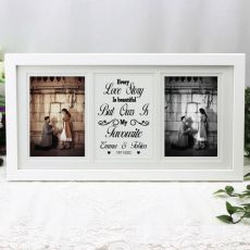 Engagement Gallery Photo Frame 4x6 Typography Print White