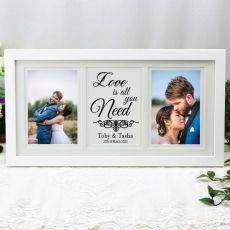 Wedding Gallery Frame Typography Print White