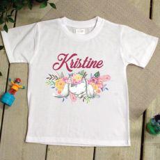 Kids Easter T Shirt - 2-6 Years - Garden Bunny