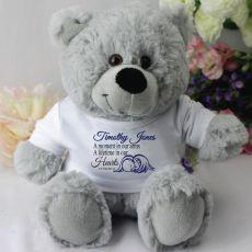 Personalised Angel Memorial Teddy Bear - Grey