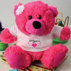 In Loving Memory Memorial Teddy Bear - Hot Pink