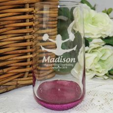 Cheerleading Coach Engraved Personalised Glass Tumbler