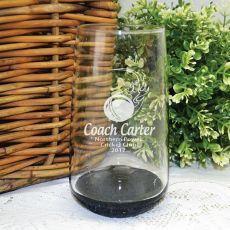 Cricket Coach Engraved Personalised Glass Tumbler