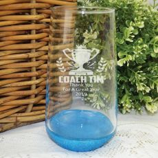 Coach Engraved Personalised Glass Tumbler