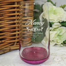 Netball Coach Engraved Personalised Glass Tumbler