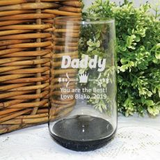 Dad Engraved Personalised Glass Tumbler