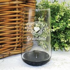 Grandma Engraved Personalised Glass Tumbler