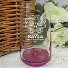 Engraved Personalised Glass Tumbler 400ml (F)