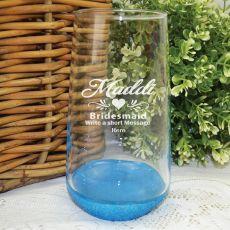 Bridesmaid Engraved Personalised Glass Tumbler