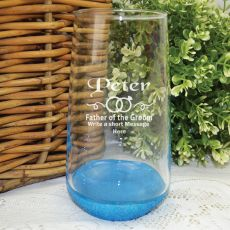 Father Of The Groom Engraved Personalised Glass Tumbler