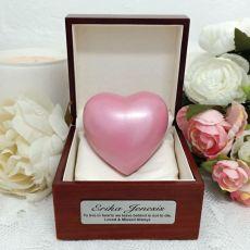 Memorial keepsake Urn For Ashes Pink Heart