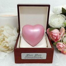 Pet Memorial keepsake Urn For Ashes Pink Heart