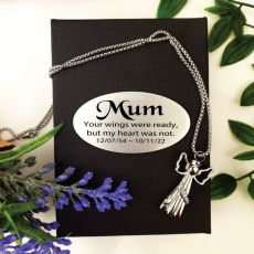 Angel Memorial Urn Cremation Ash Necklace In Personalised Box